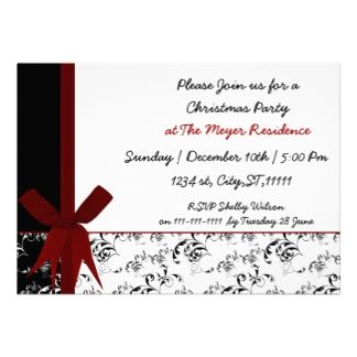 elegant Holiday party Invitation #Christmas #Holidays