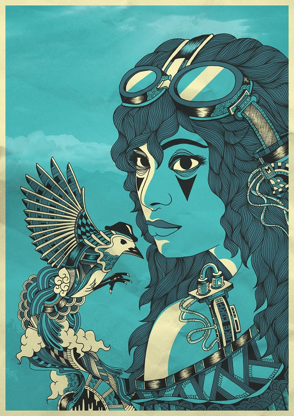 Steampunk goddess by paulo correa advertising from