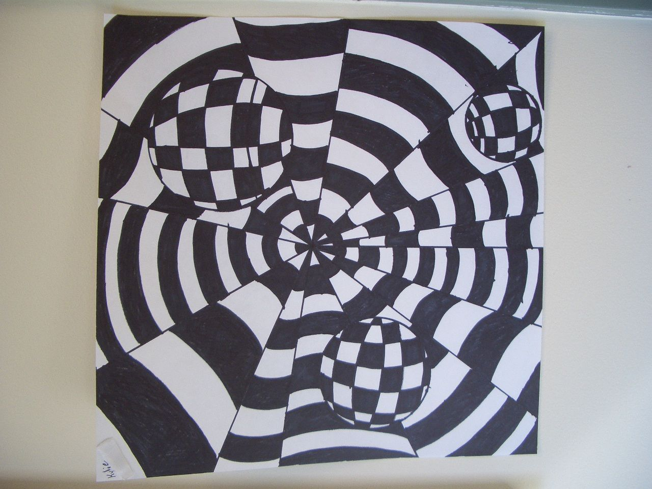 Op art uses color to create - Dream Draw Create Art Lessons For Children Op Art By Grade 8