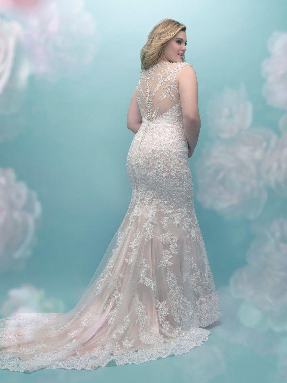 Allure Bridals W404 Bridal Gown Weddingdresses Wedding Bride Allurebridals Allure Plussize Wedding Wedding Dresses Womens Wedding Dresses Allure Bridal [ 1334 x 1000 Pixel ]