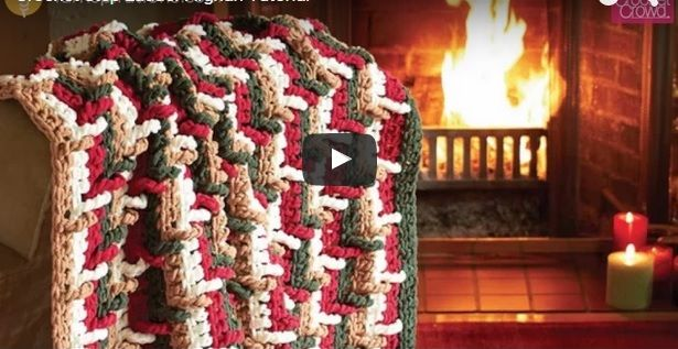 Crochet Step Ladder Afghan Tutorial. Learn how to make this amazing Step Ladder Afghan. It uses the Step Ladder Stitch for raised textures.
