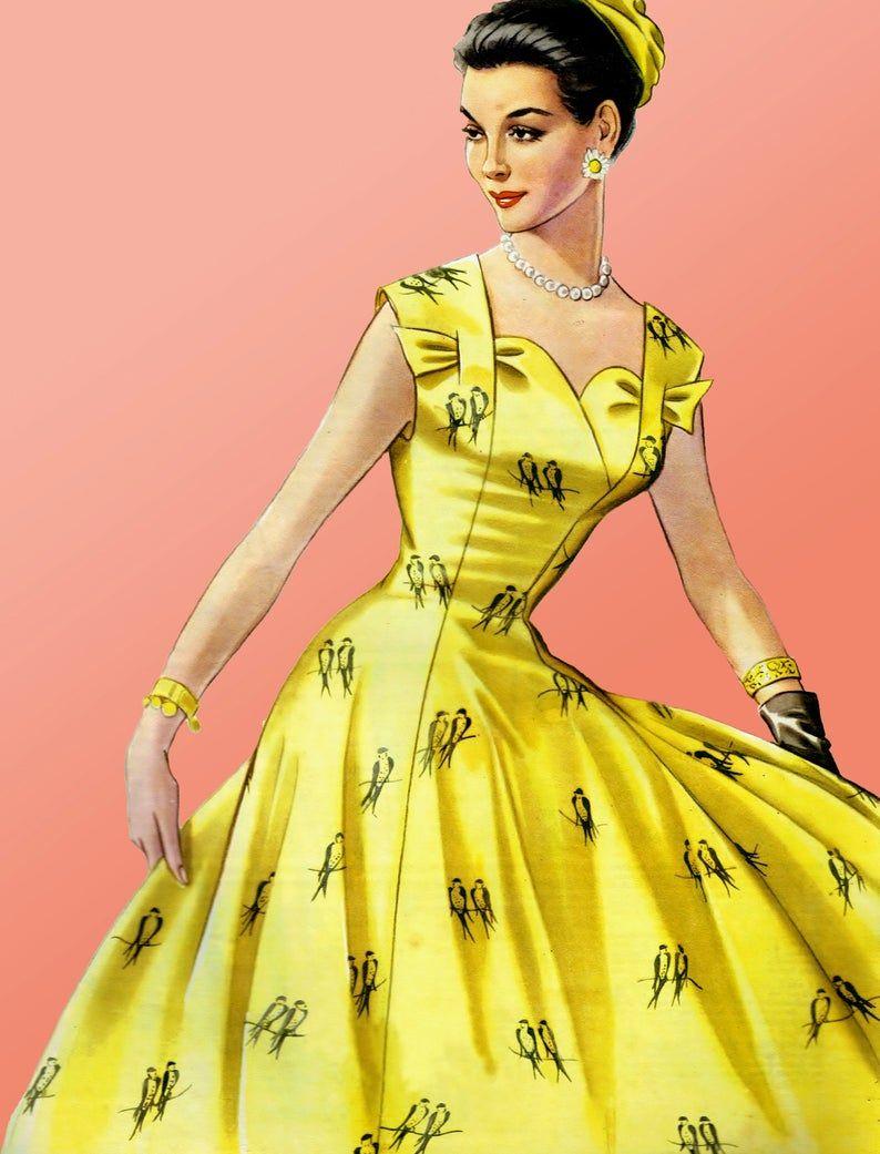 Vintage 98cm 38 6bust Size 1950s Sleeveless Summer Dress Etsy In 2020 Summer Dress Sewing Patterns Sewing Summer Dresses Vintage Dress Patterns [ 1041 x 794 Pixel ]