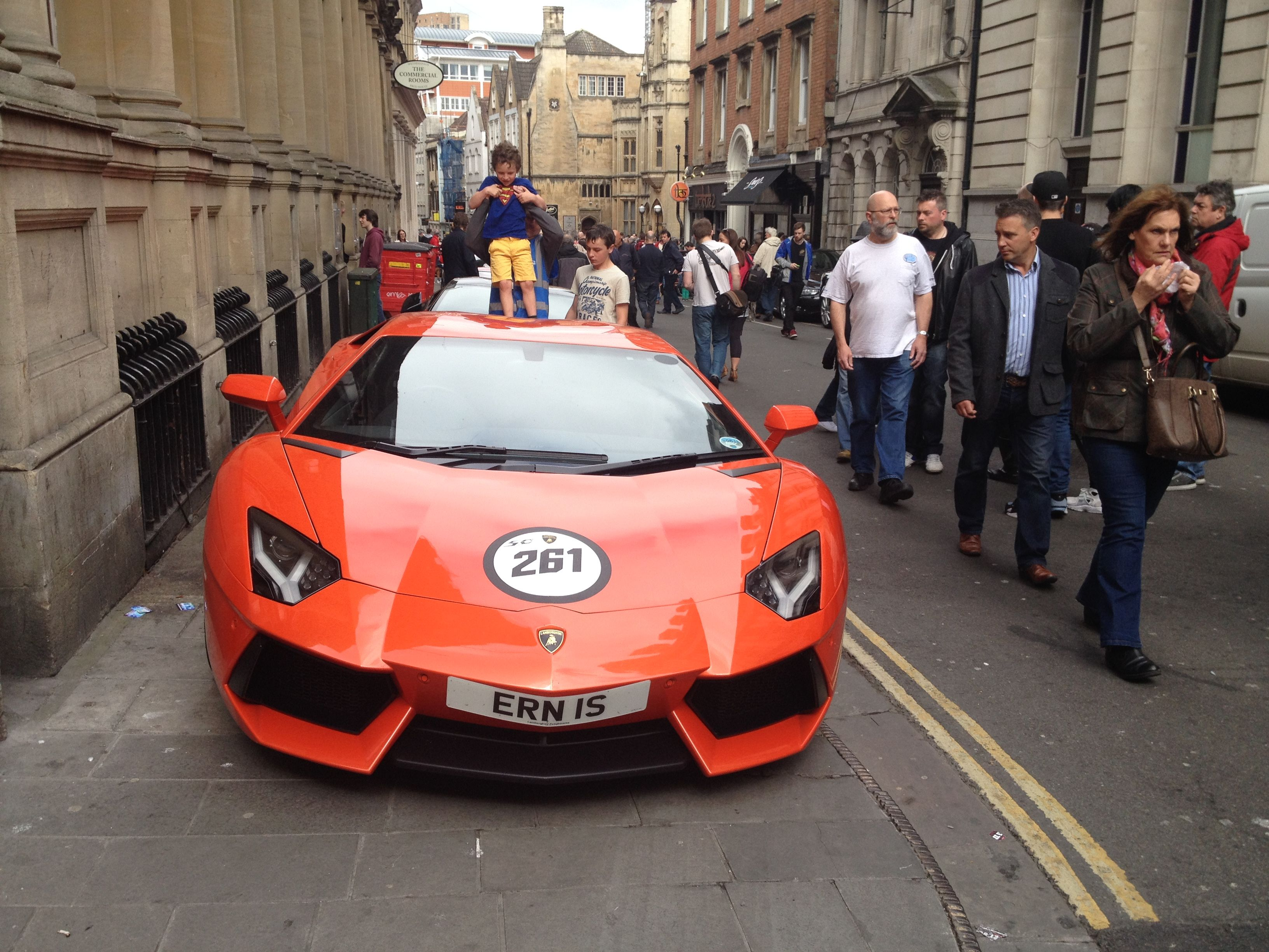 Aventador At The Italian Car Show On Corn Street In Bristol