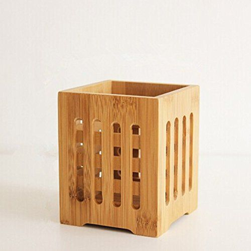 Demiawaking Bamboo Tableware Holder Box Spoon Chopsticks Storage