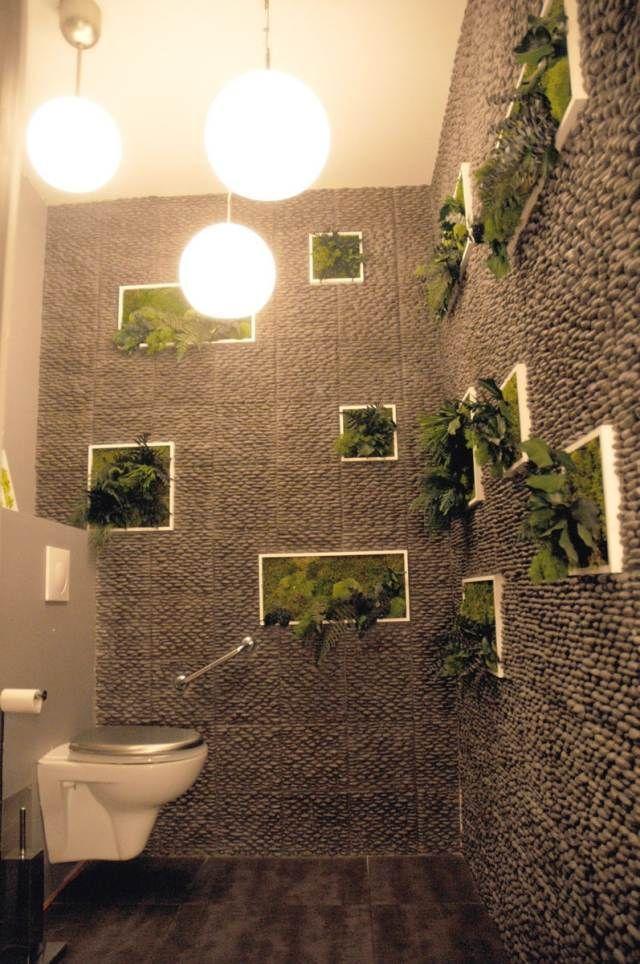 D co de toilette 33 id es originales pour embellir l 39 espace les wc deco toilettes - Decoration wc originale ...
