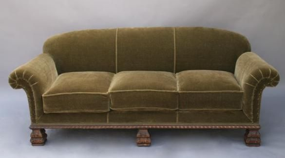 Love These Comfy Old Velvet Sofas~from The 1920u0027s, I Think. Had A
