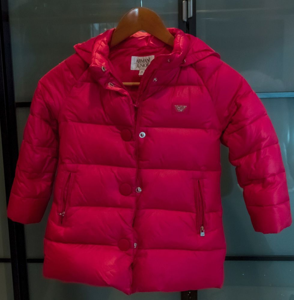 Armani Junior Girl Winter Jacket Size 4 Red Armanijunior Basicjacket Armani Junior Girls Winter Jackets Girls Winter Jackets [ 1000 x 979 Pixel ]