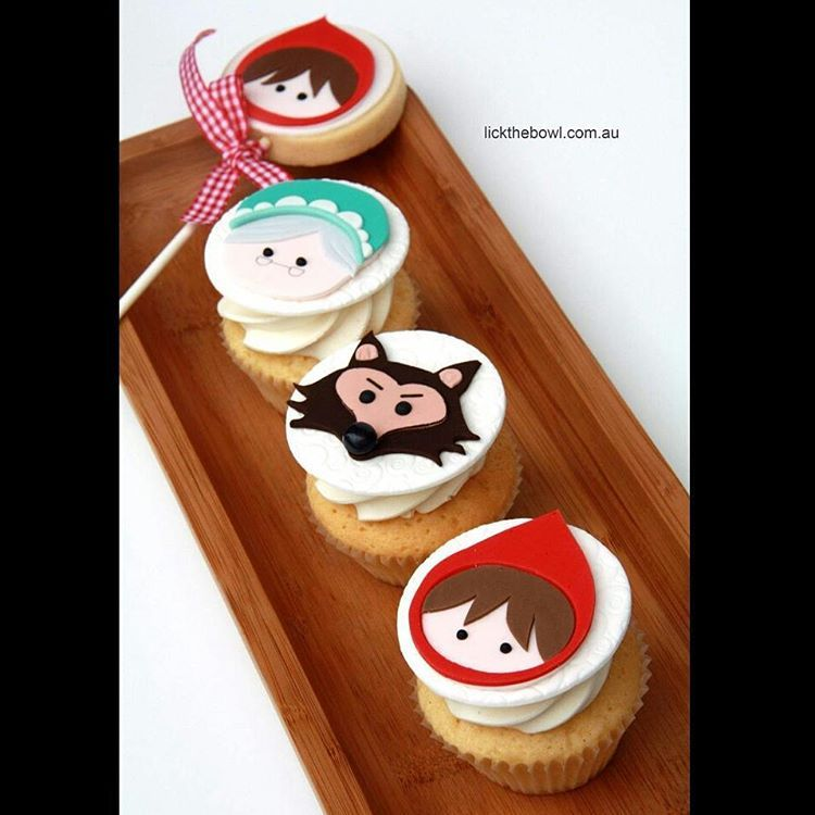 Little Red Riding Hood cupcakes #cupcakes #melbournecakes #littleredridinghood