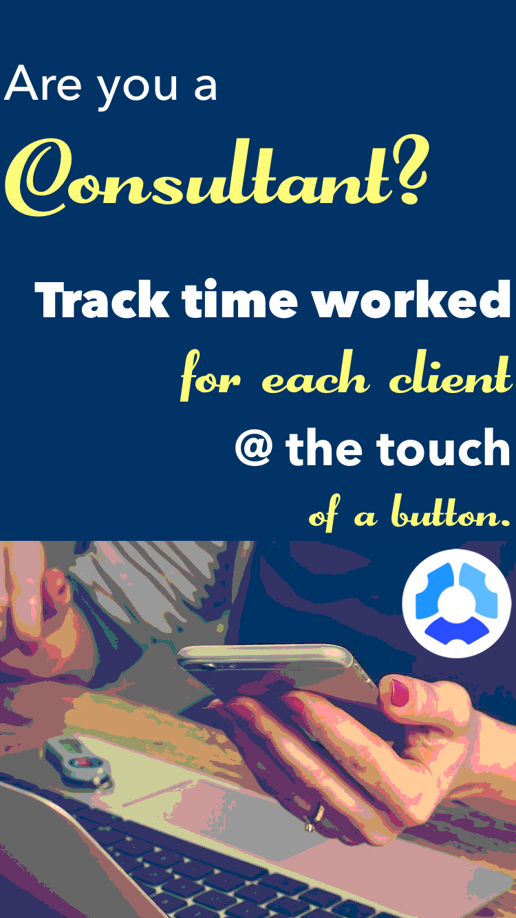 Easy time tracking app for consultants. Track precise time