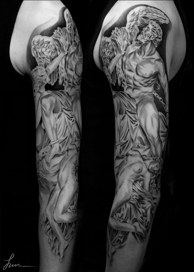 Amazing Tattoo Art By Jun Chaamazing Tattoo Art By Jun Cha Greek God Tattoo Tattoos Art Tattoo