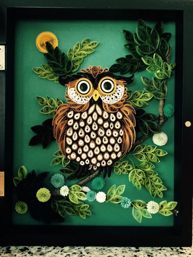 Quilled Owl Owls Pinterest Owl Quilling And Paper