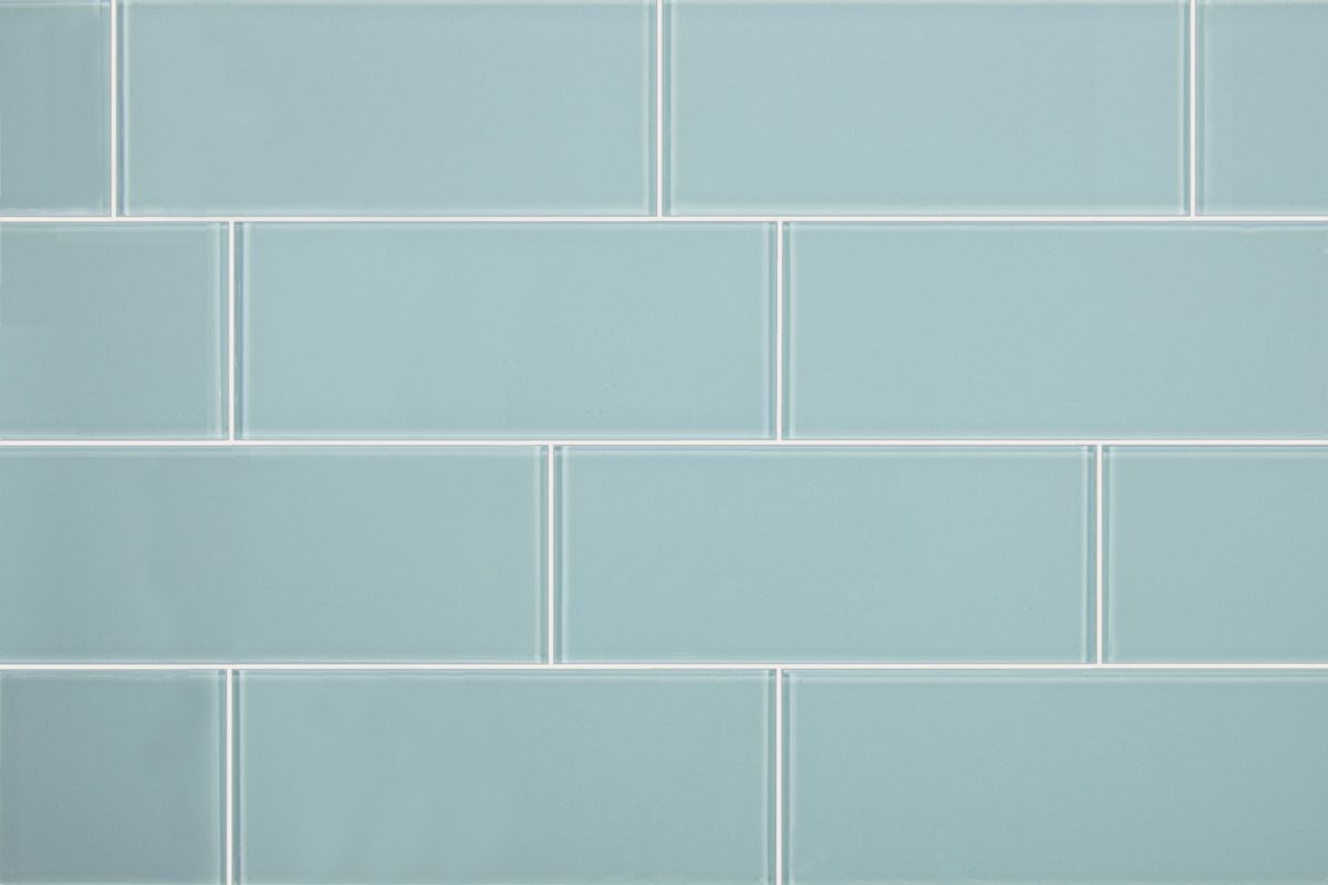 - 3x8 Aqua Blue Glass Subway Tile Glass Subway Tile, Blue Glass