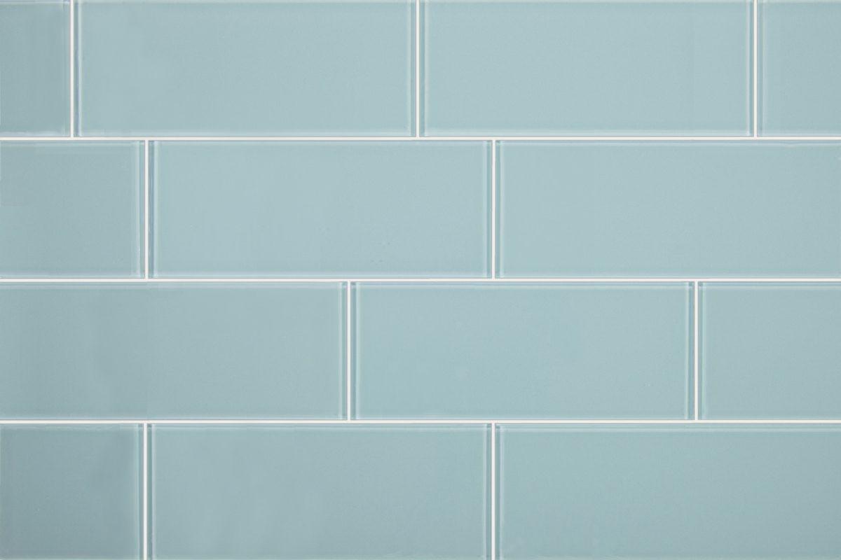 3x8 Aqua Blue Gl Subway Tile