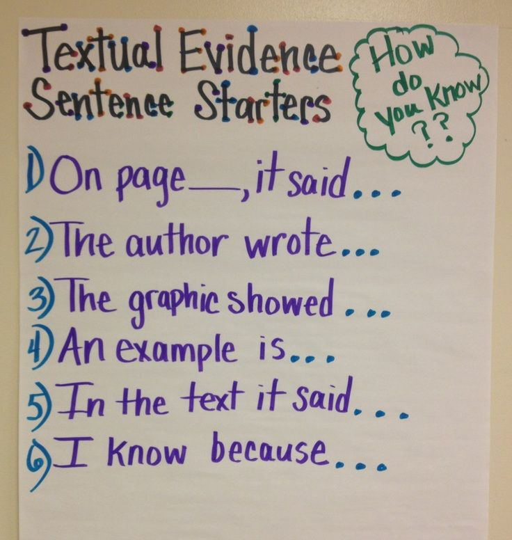 Giving Text Evidence