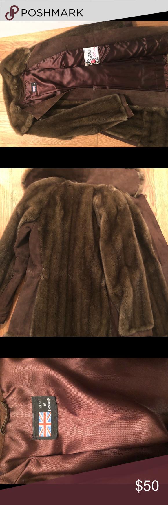Vintage London Leathers Lilli Ann Faux Fur Coat Women's