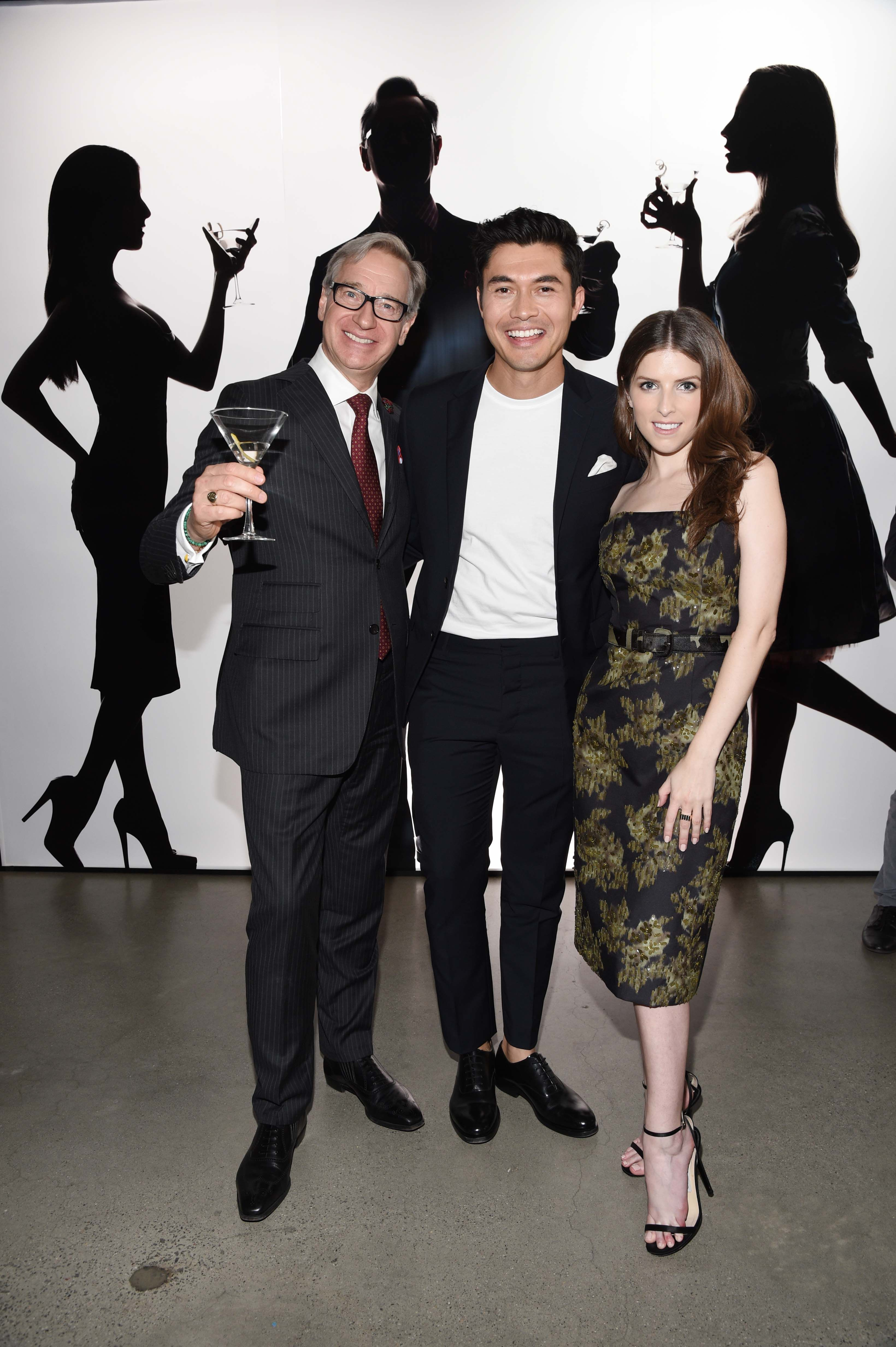 Paul Feig Henry Golding And Anna Kendrick At The A Simple Favor