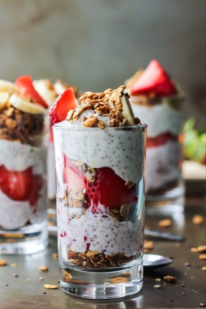 Strawberry Banana Chia Seed Pudding Parfait #chiaseedpudding This Strawberry Chia Seed Pudding Parfait is a fun breakfast or healthy dessert. Using Greek yogurt, chia seeds, and your favorite granola. Gluten-free. #chiaseedpudding Strawberry Banana Chia Seed Pudding Parfait #chiaseedpudding This Strawberry Chia Seed Pudding Parfait is a fun breakfast or healthy dessert. Using Greek yogurt, chia seeds, and your favorite granola. Gluten-free. #chiaseedpudding Strawberry Banana Chia Seed Pudding Pa #chiaseedpudding