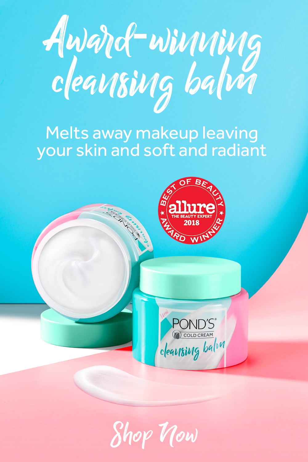 """POND'S Cleansing Balm awarded Allure's """"Best of Beauty"""