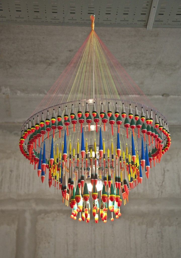 Tweelink Design Kronleuchter aus Angelzubehör Impressive
