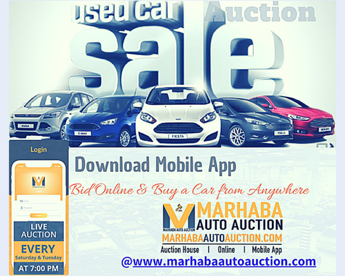 List of Used Cars available at Marhaba Auto Auction View