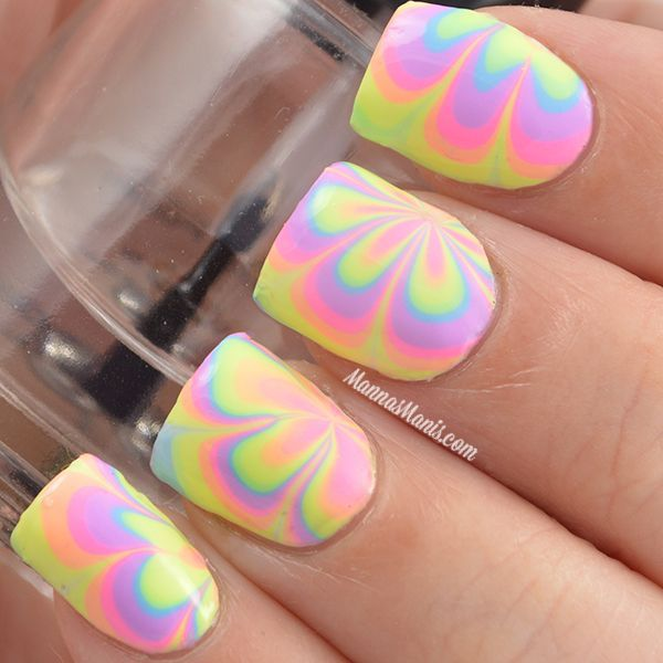 35 Water Marble Nail Art Designs | Pinterest | Water marble nail art ...