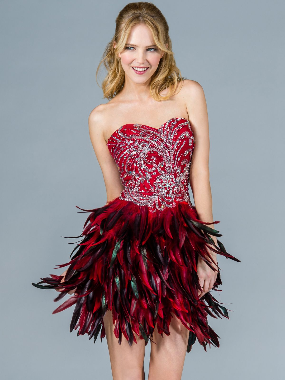 Feather-Cocktail-Dress | FASHION FEATHERS | Pinterest | Red ...
