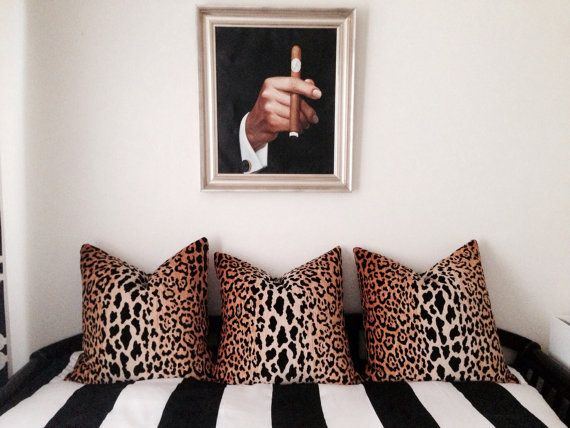 The fabric is Jamil Natural Leopard Velvet by Braemore