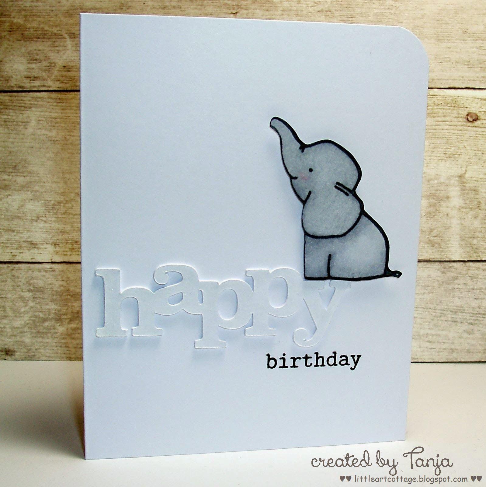 Colour Me Happy Birthday Elephant Birthday Cards For Friends Dad Birthday Card