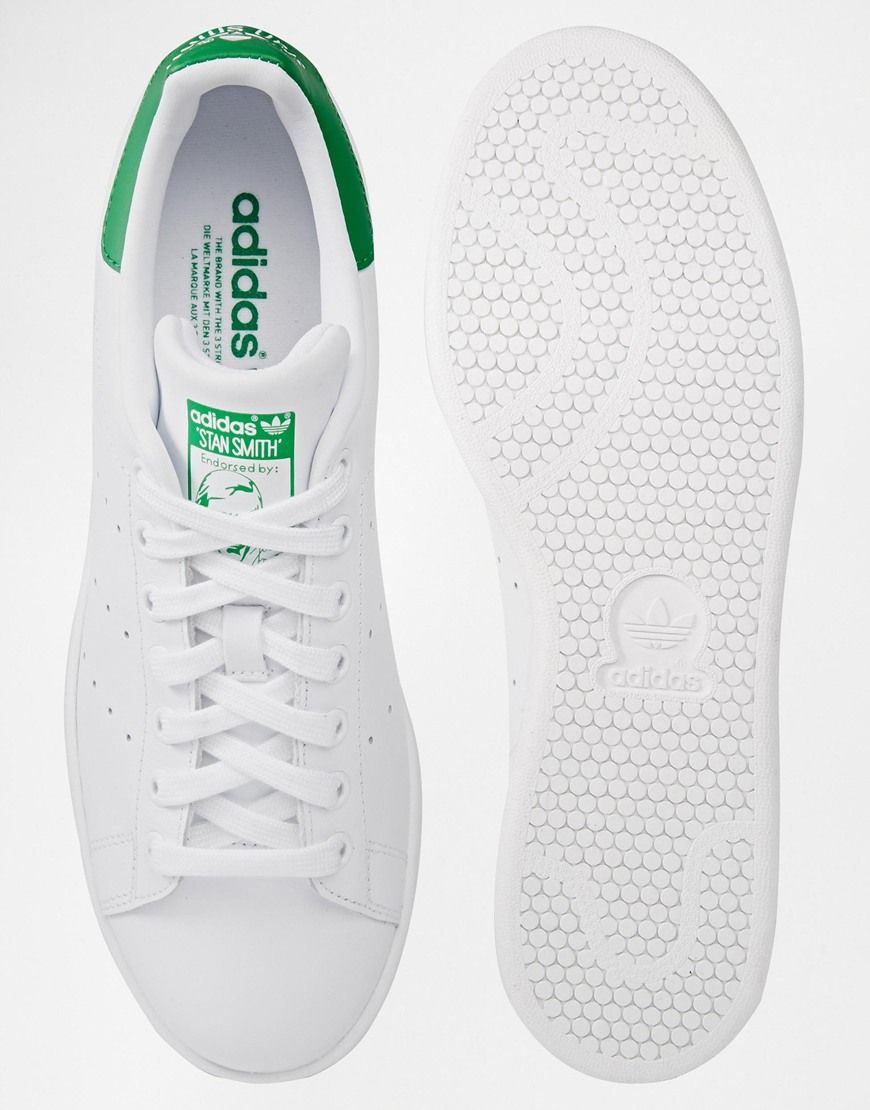 adidas Originals Stan Smith Baskets en cuir Blanc et
