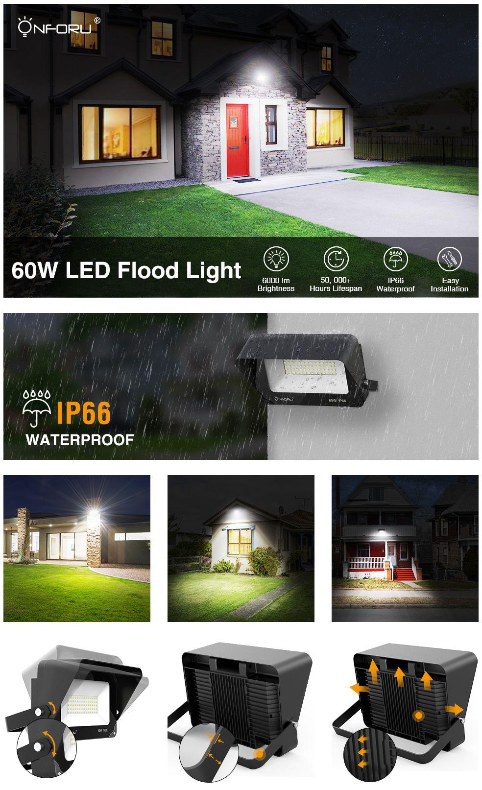 60w Led Flood Light With Shield