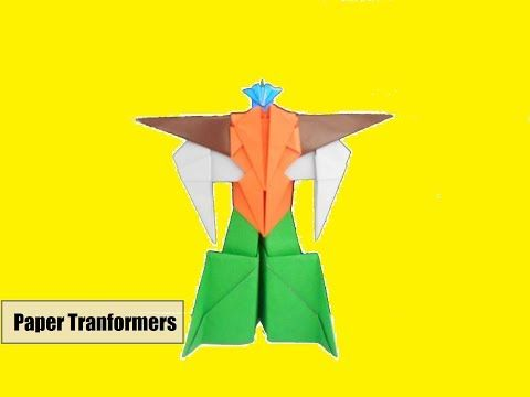 Cara Membuat Mainan Anak Dari Kertas Origami Robot Transformers Yang Keren Origami Paper Youtube Origami Kertas Kertas Origami