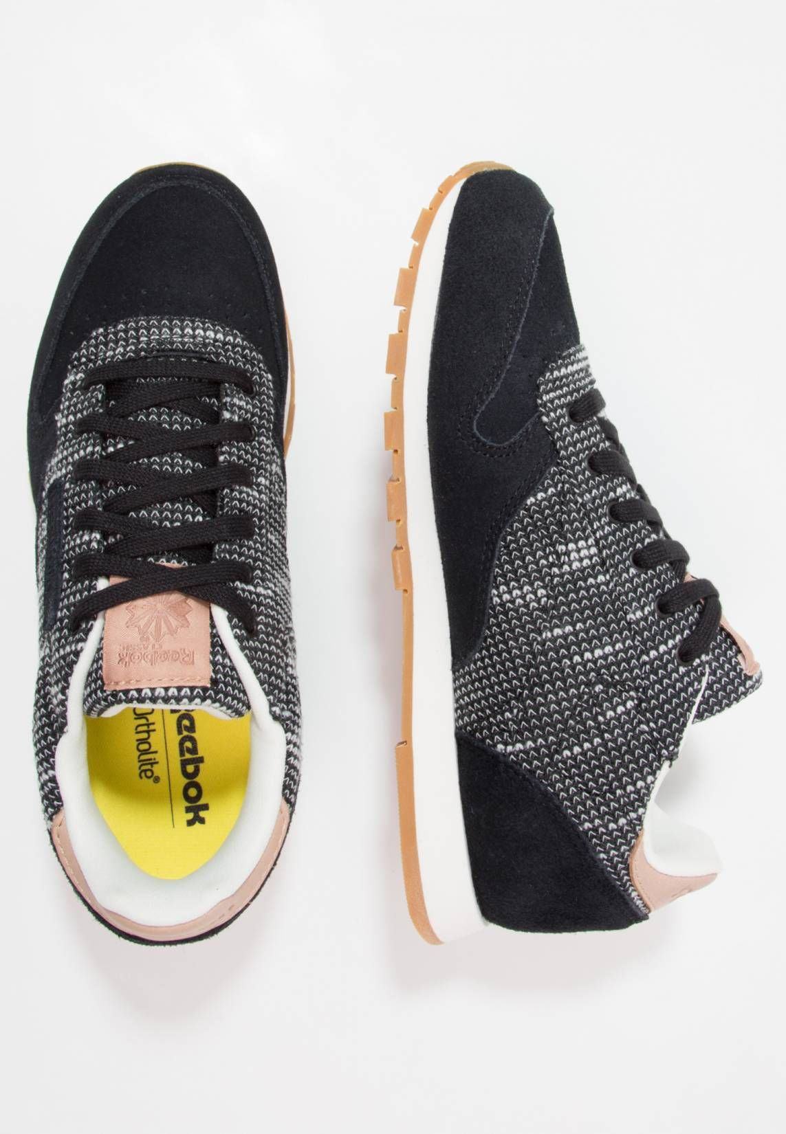 Buy black reebok classic trainers | Up to 56% Discounts