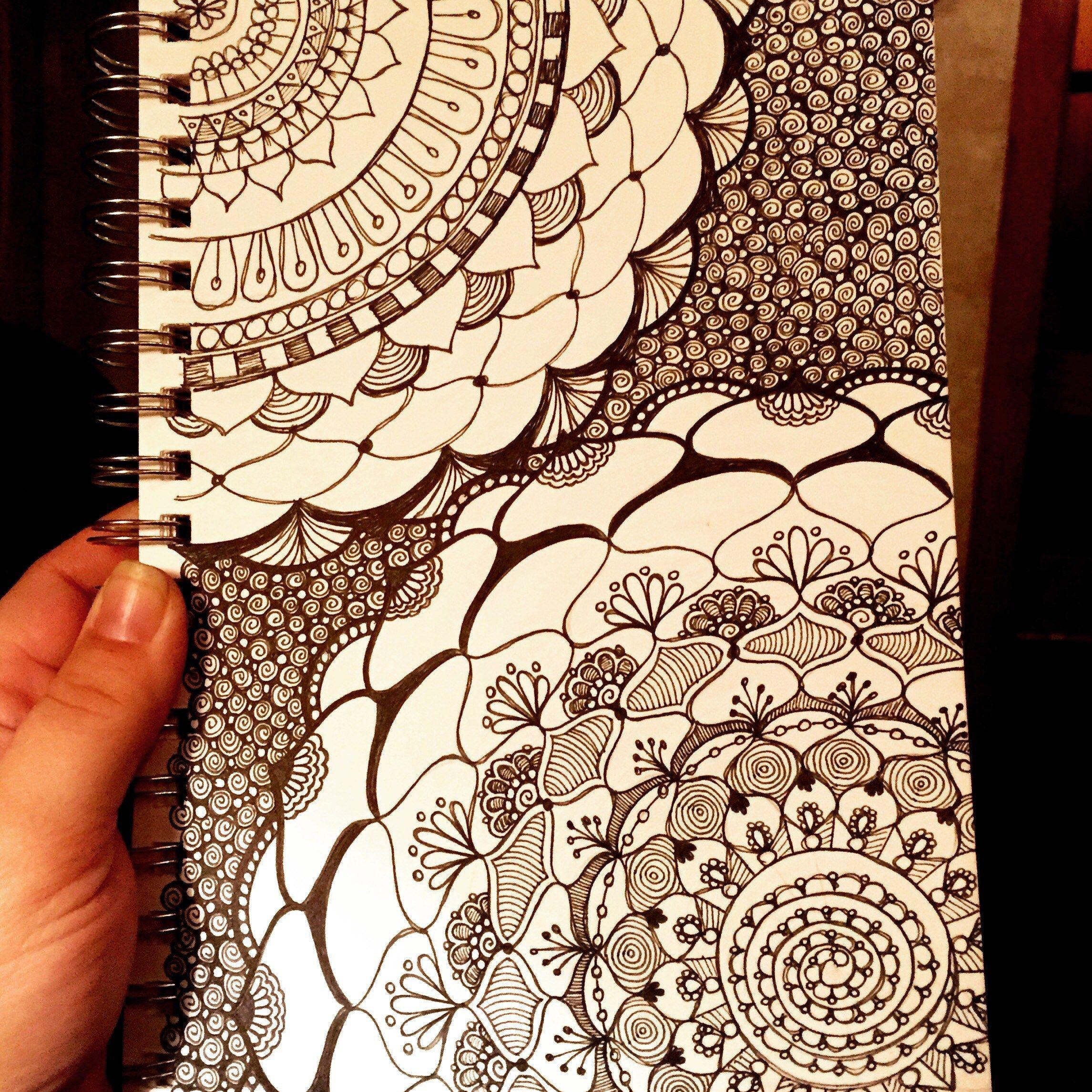 Sketchbook Mandalas 113 144 Doodle Patterns Sketch Book Doodle Drawings