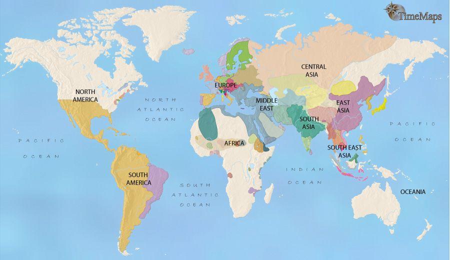 history map of World History Map 1648AD