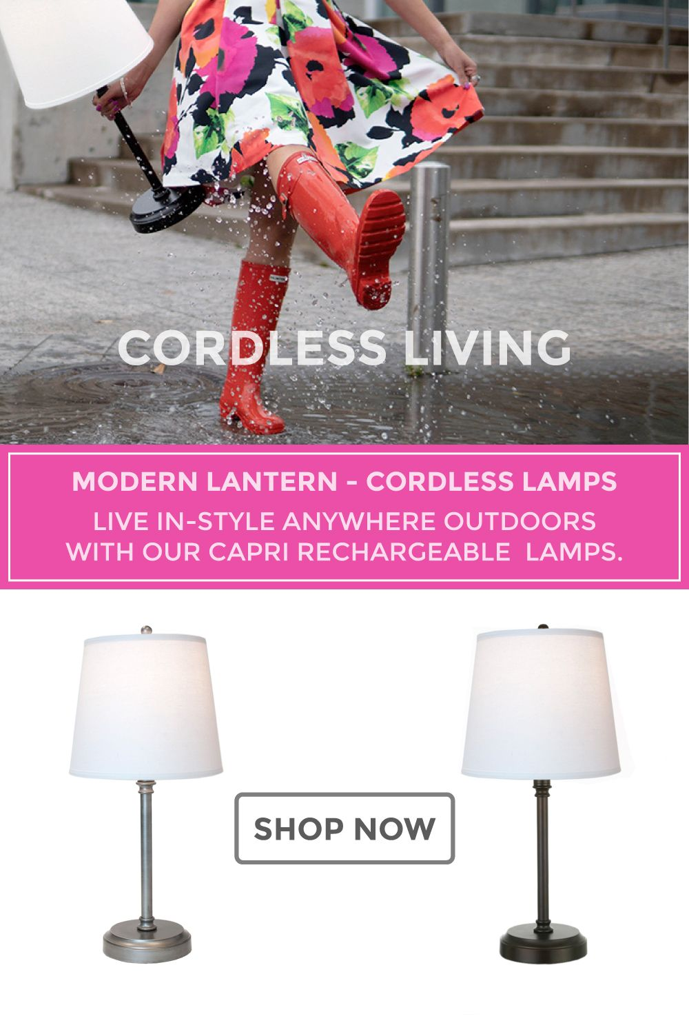 Outdoor Cordless Lamp Cordless Lamps Modern Lanterns Rechargeable Lamp