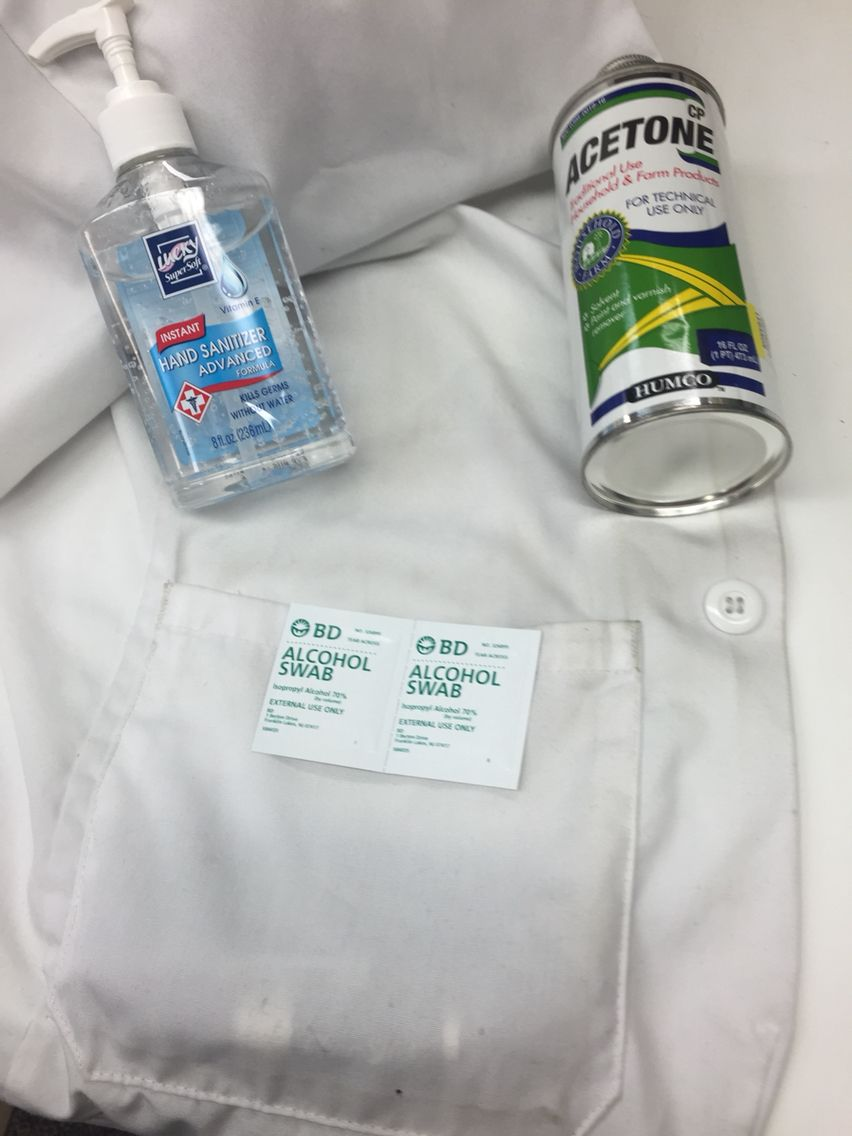 Use Hand Sanitizer To Get Tree Sap Out Of Clothes Hand