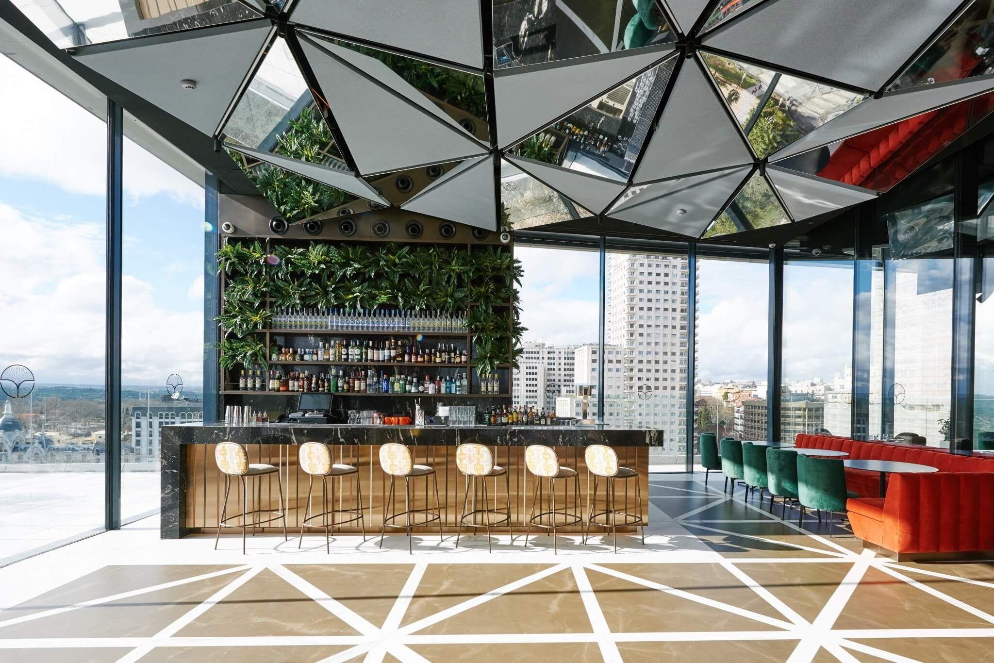 Ginkgo Sky Bar Madrid Rooftop Design Bar Interior Design