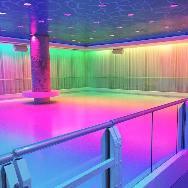 Empty 80's Dance Floor In Vaporwave/kawaii Style, T