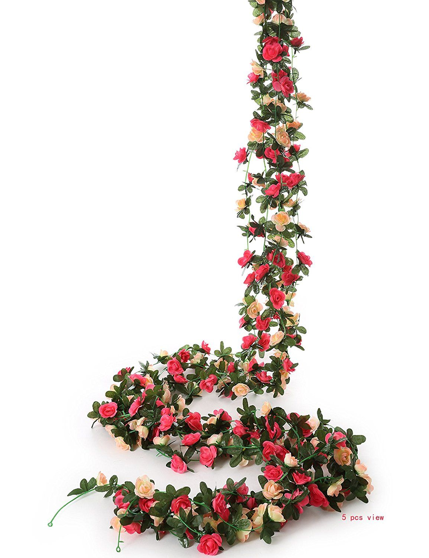 amazon com felice arts 5pcs artificial flowers 41ft fake plastic
