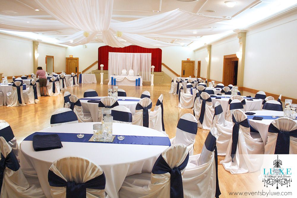 Royal Blue And White Wedding Decor In London Ontario Event Decor