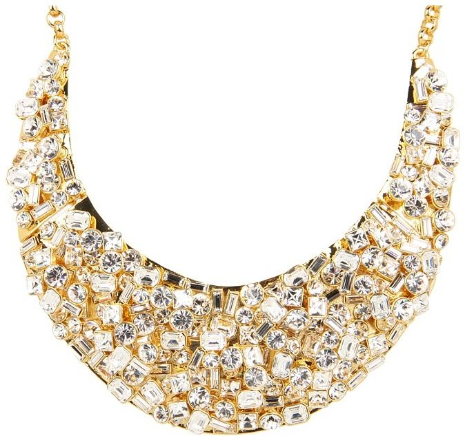 Kate Spade New York - Kaleidoball Encrusted Statement Necklace (Clear) - Jewelry