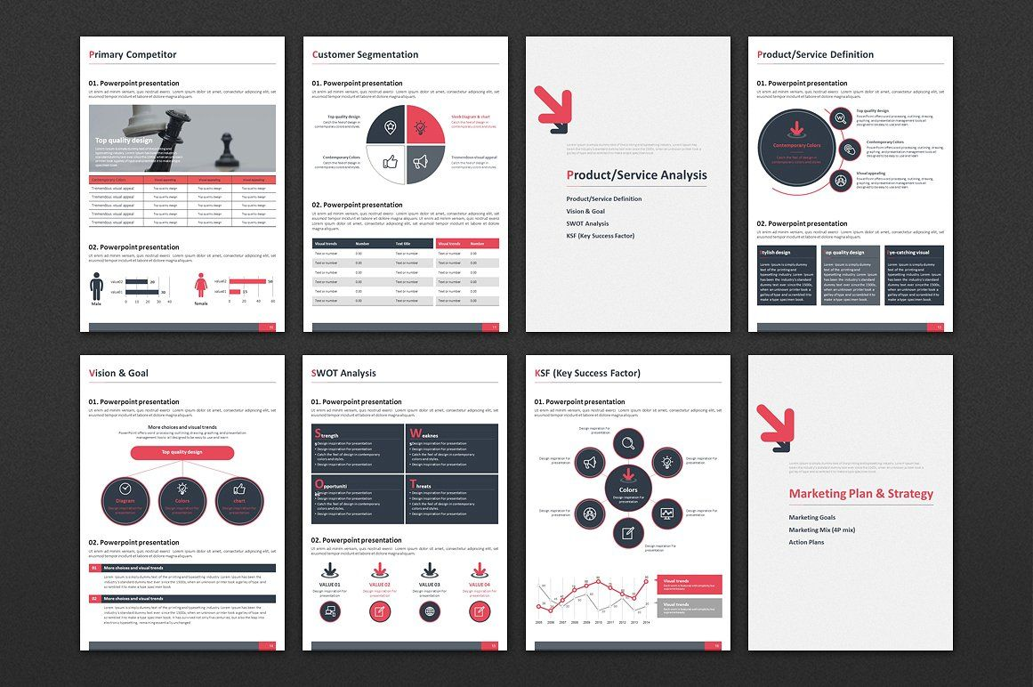Marketing Plan Strategy PPT Vertical | Infographics
