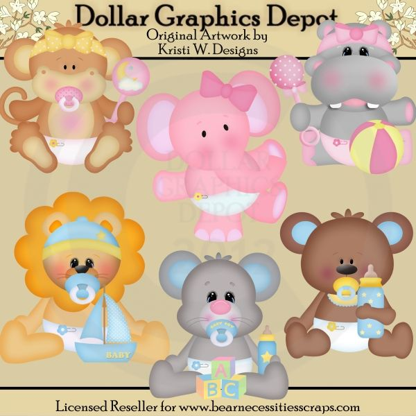 Baby Animals Clip Art - *DGD Exclusive* - Created by Kristi W ...