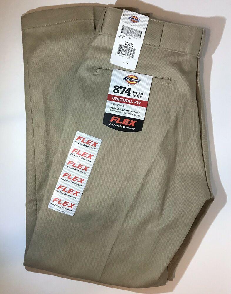 Dickies 874 work pants mens sz 32x30 original fit flex