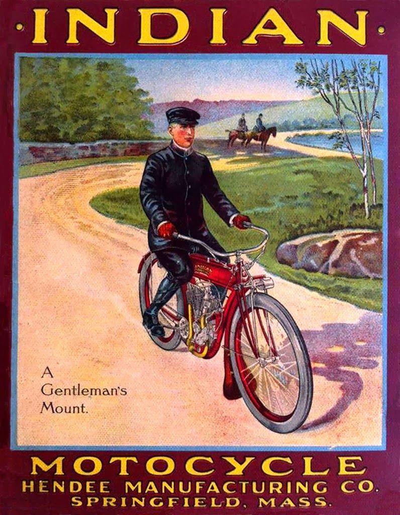 Vintage Brochures Indian 1910 Indian Motorcycle Indian Motorcycle Scout Indian