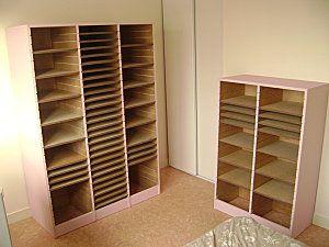 meuble feuilles 30x30 organisation scraproom