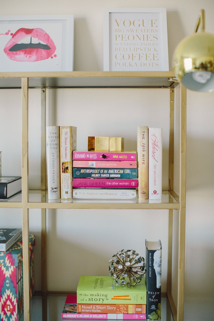 45 Reasons Pink Is The New Black Gold Diy Gold Bookshelf Home