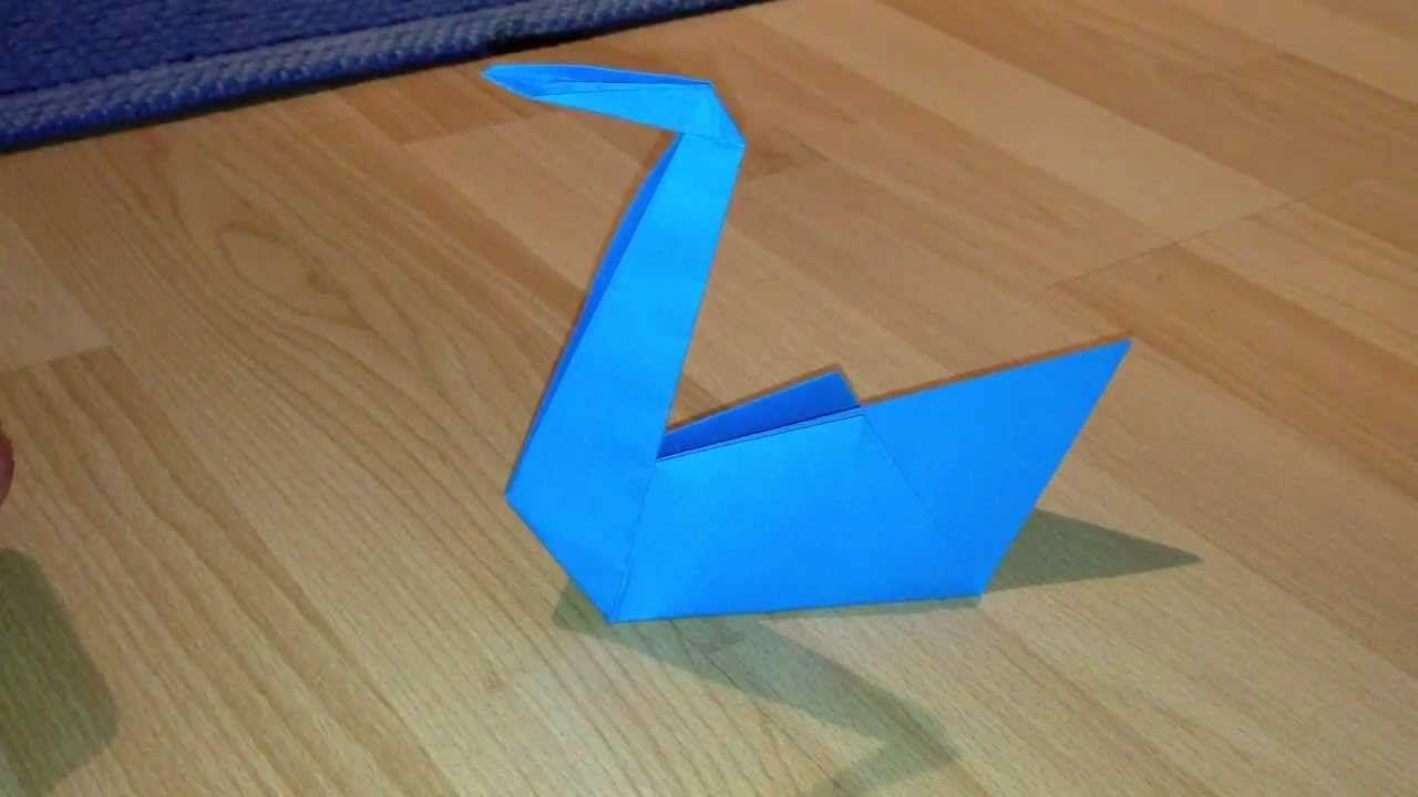 Schwan Aus Papier Basteln Origami Schwan Falten Youtube