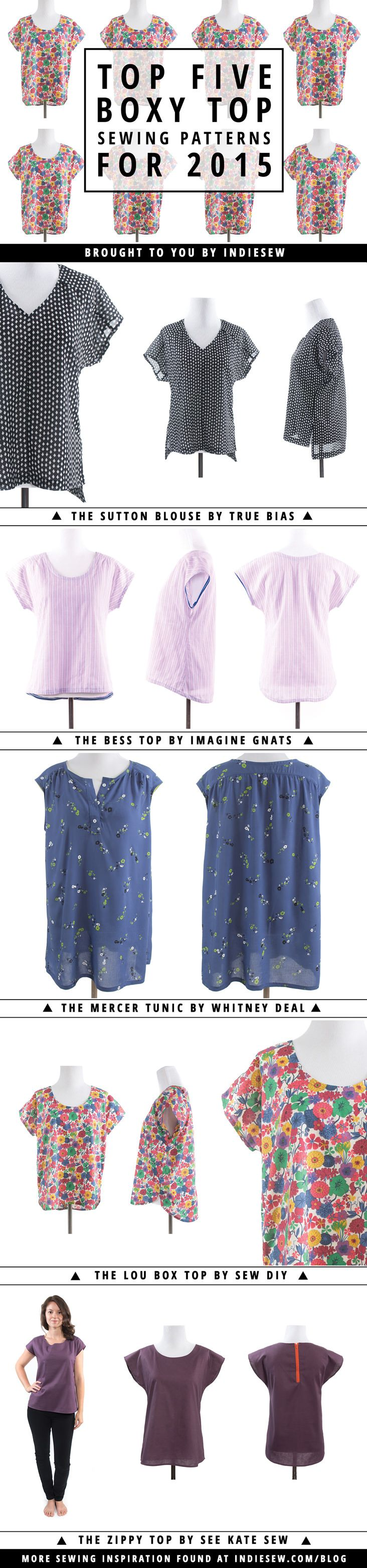Top Five Boxy Top Sewing Patterns for 2015 | Sewing patterns ...