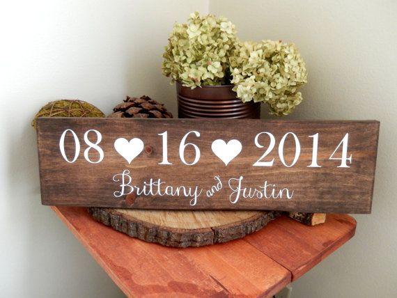 Bridal Shower Gift, Engagement Gift , Wedding Date Sign, Save the Date Sign, Save the Date Photo Prop, Rustic Wedding Decor, Wedding Gift